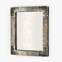3d industrial loft mirror