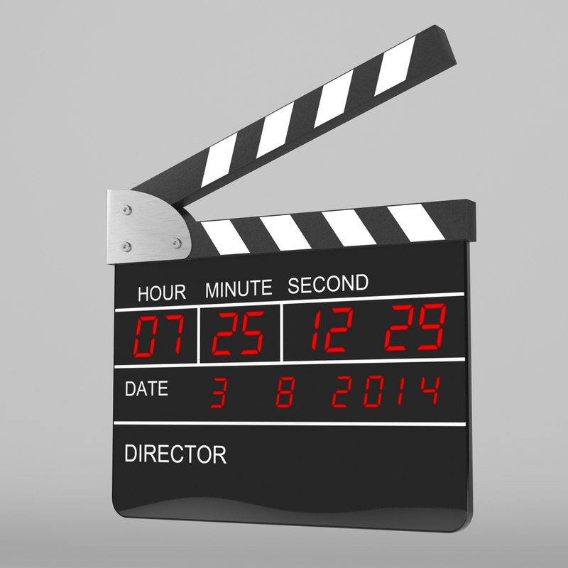 3ds max digital clapperboard