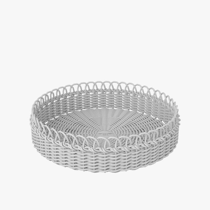 3d model wicker basket v4