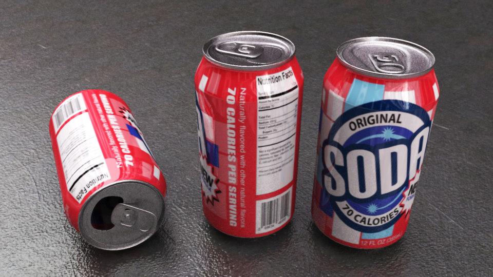 3d model of soda