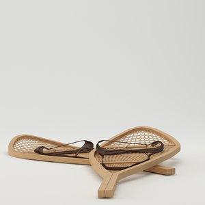 3d model snow shoes snowshoes