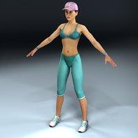3dsmax female sports club