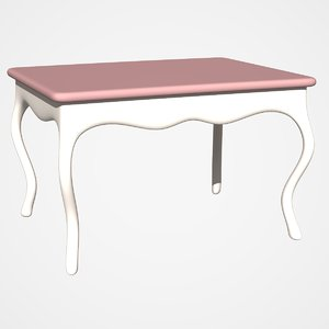 console table 3d dxf