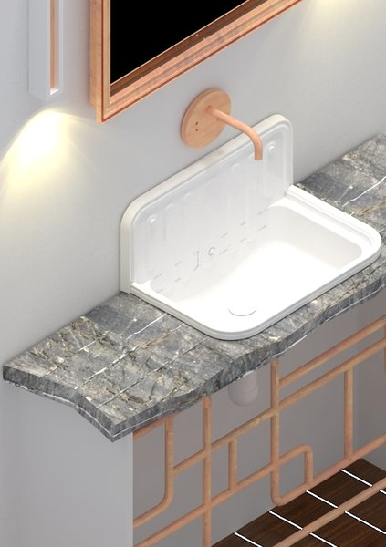 3d model bathroom