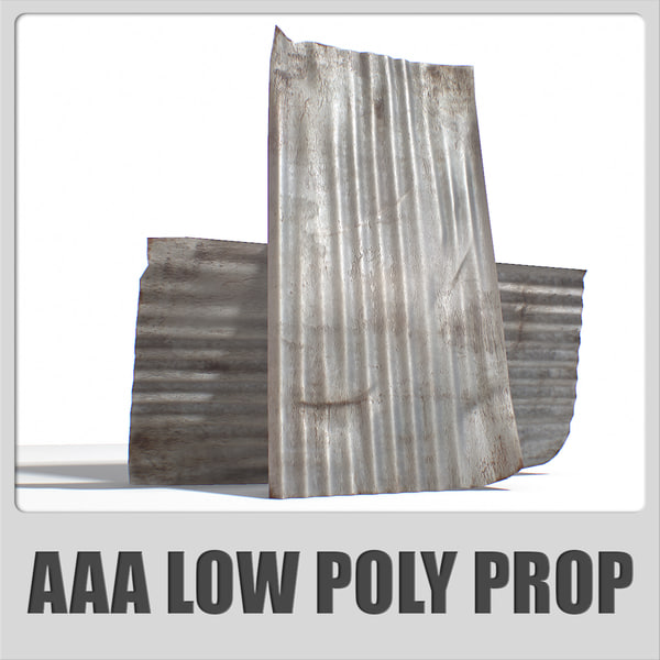 3d metal roofing sheet aaa model