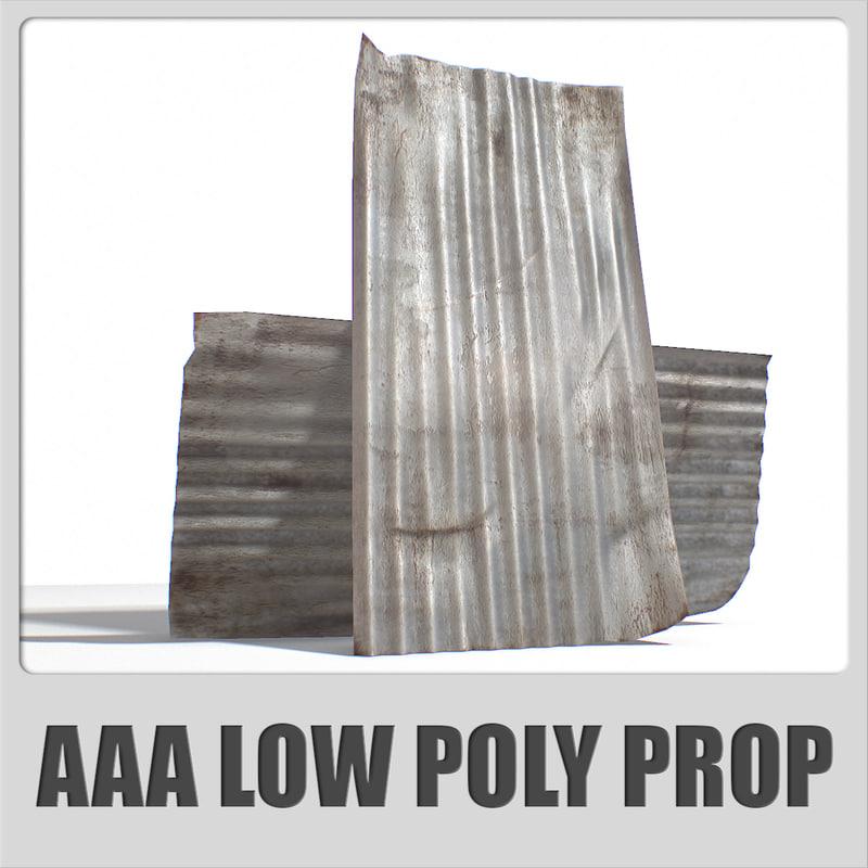 3d metal roofing sheet aaa model
