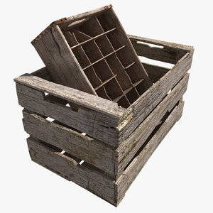 old crates 3d obj