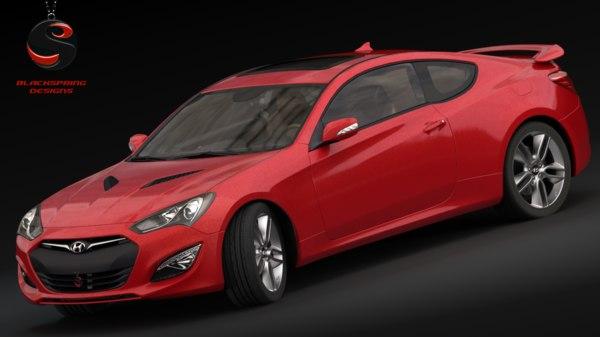 3d model hyundai genesis coupe 3