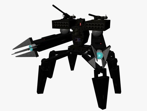 battlebot robot mech c4d