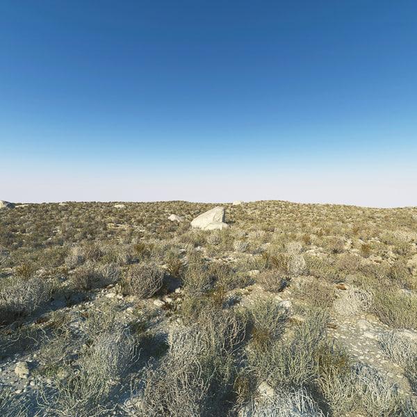 3d desert stones rock model