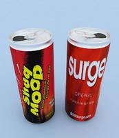 3d energy drink model