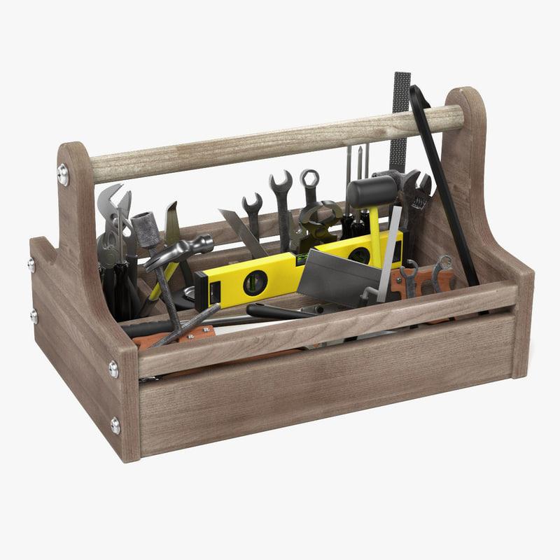 toolbox tools 3d model
