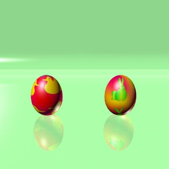 3d eggs set easter model