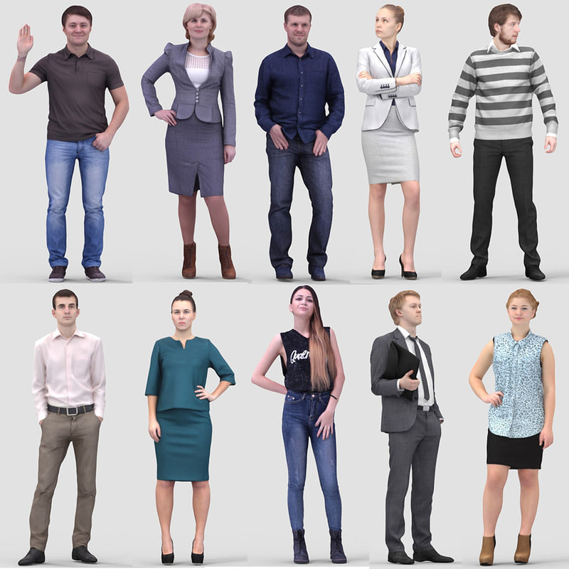 3ds max realistic humans