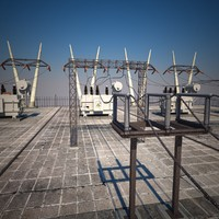 3d electrical substation model