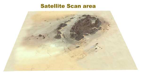 desert satelite geo scan 3d model