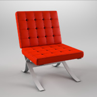 3ds max barcelona chair