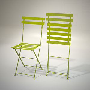 chair metal bistrot obj
