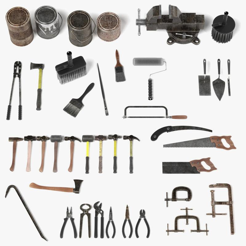 rusty tools 3d model
