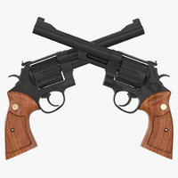 Revolver Black 3D Model