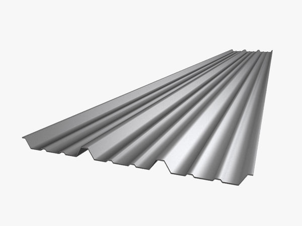 metal roof sheet 3d model