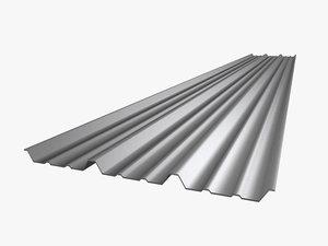 metal roof sheet 3d model