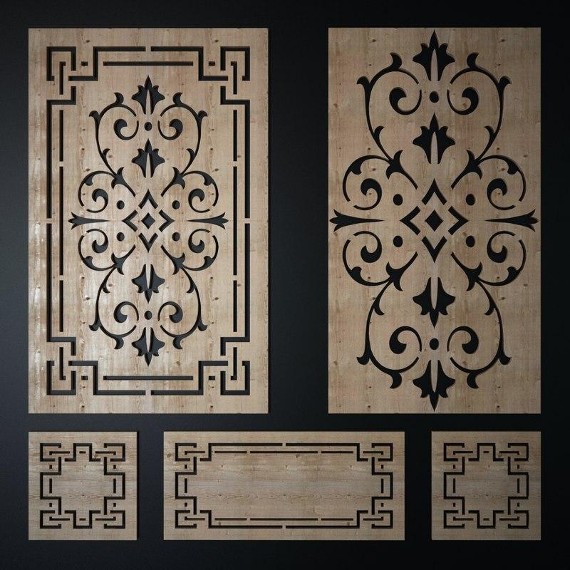decorative laser cutting pattern 3d max