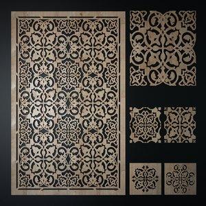 decorative laser cutting pattern 3d model