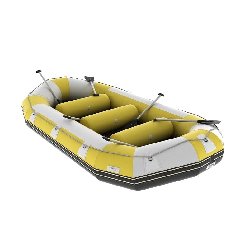 rafting boat 3d model