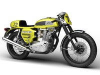 bsa rocket 3 racer 3d model