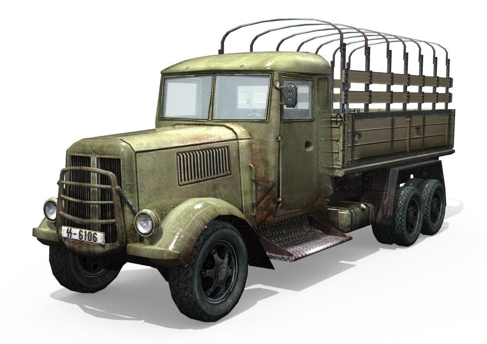 3d model wwii army truck