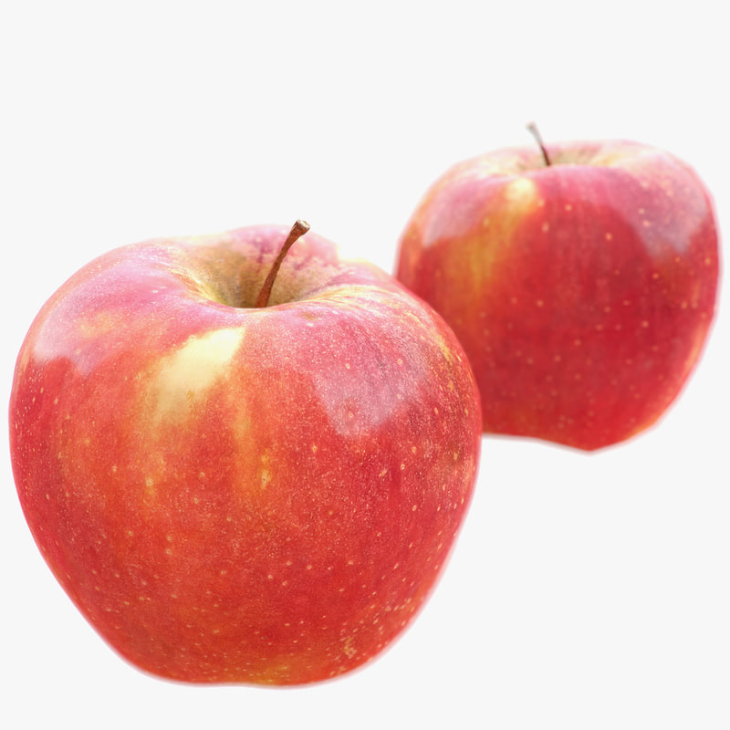 big red apple scanned 3ds