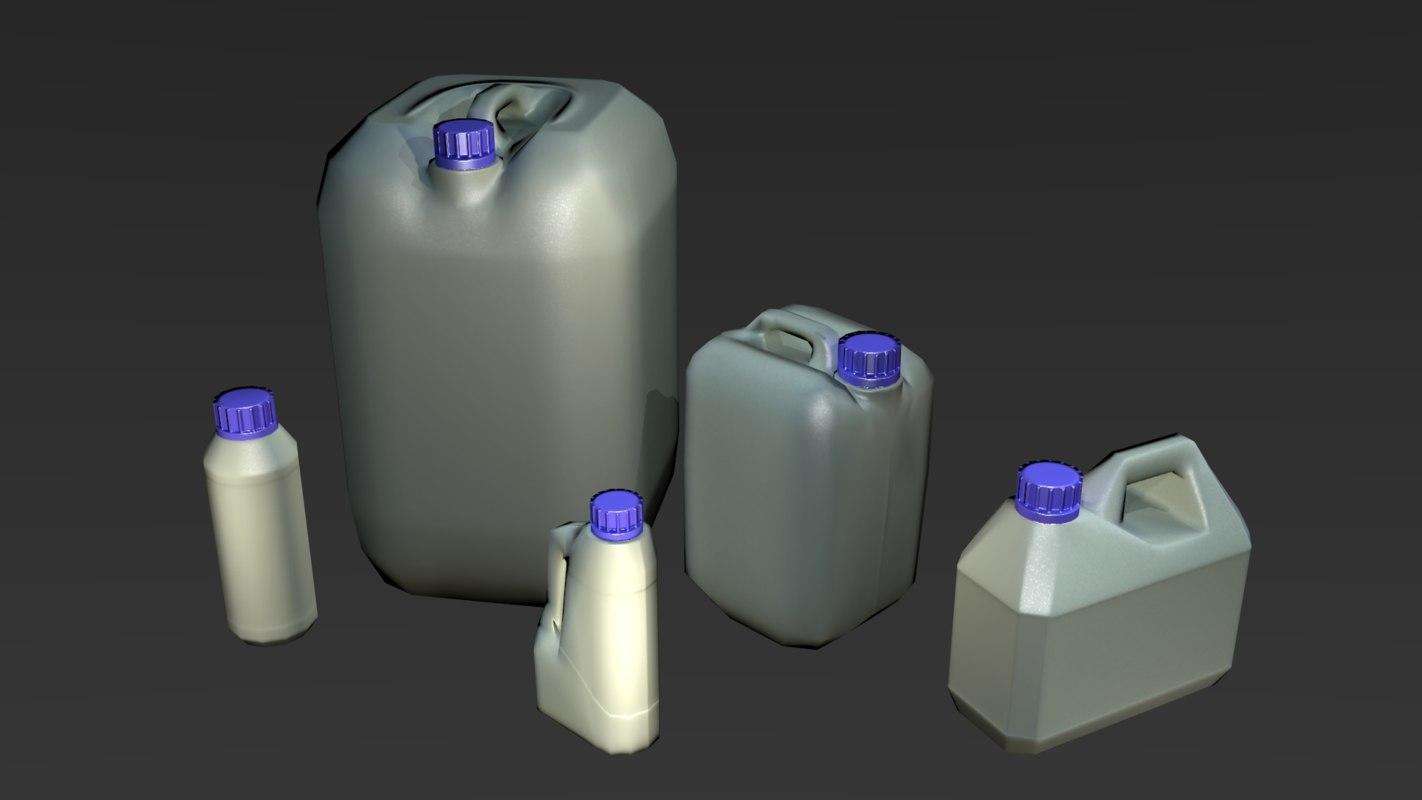 canister plastic 3d model