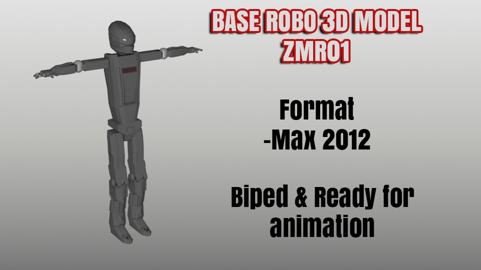 animation robo biped base max free