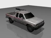 free pickup truck 3d model
