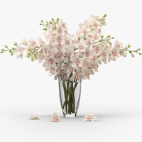 3d model orchid bouquet