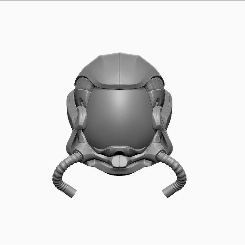 3d helmet astronaut