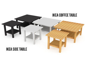 3d model ikea hemnes table colors
