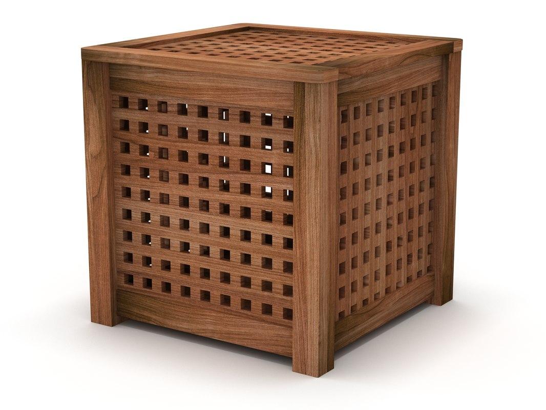 IKEA HOL Side Table Acacia