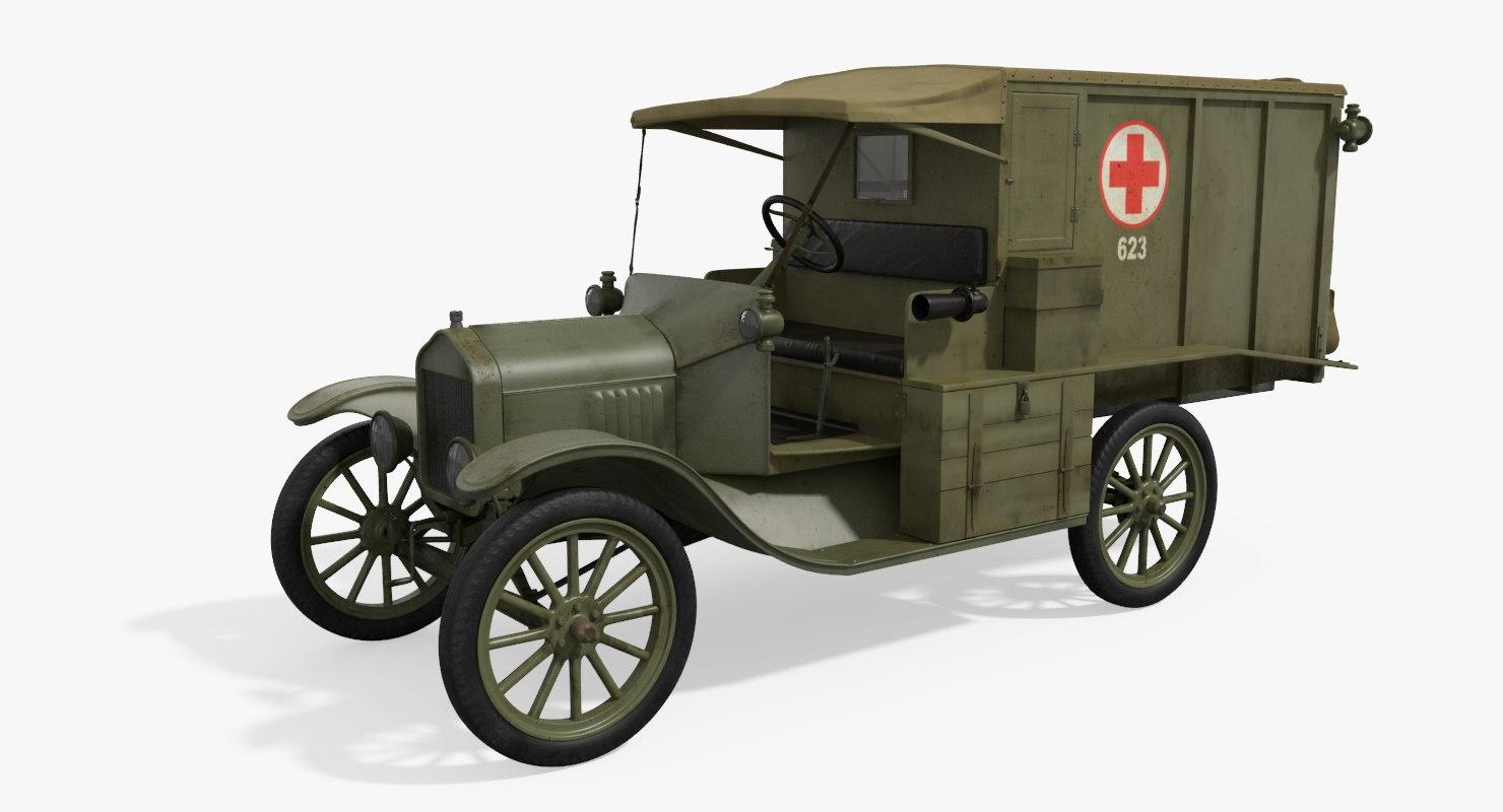 3d model m1917 ambulance