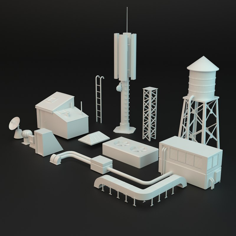 3d roof elements
