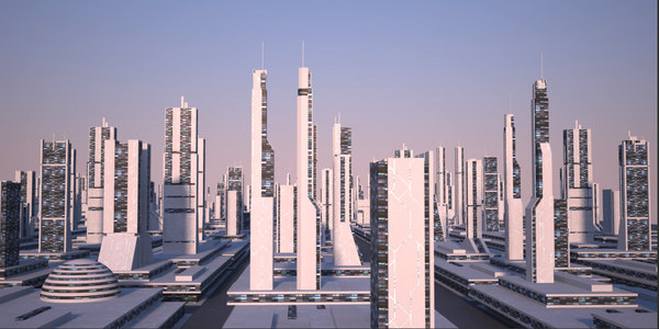 modular futuristic city 3d max