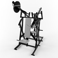 Low poly gym equipment chest back