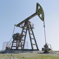 3d model oil peak -