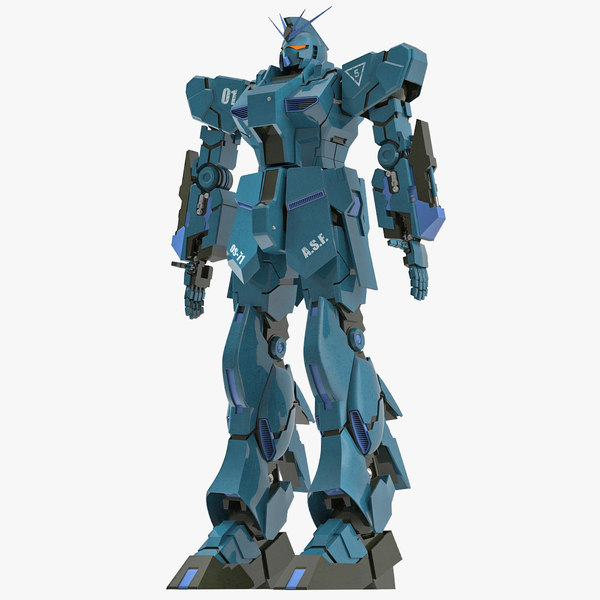 robot modeled 3d model
