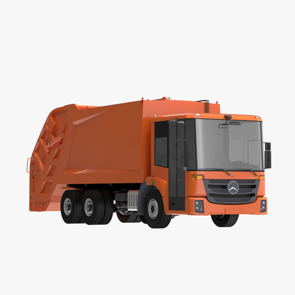 3d econic garbage truck model