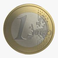 3dsmax 1 euro coin italy