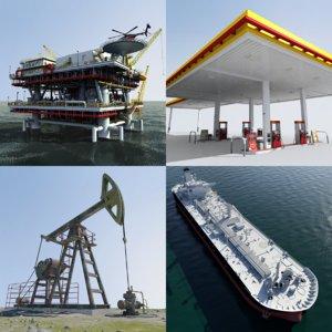 peak oil tanker - 3d max