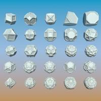3d geometric shape pack