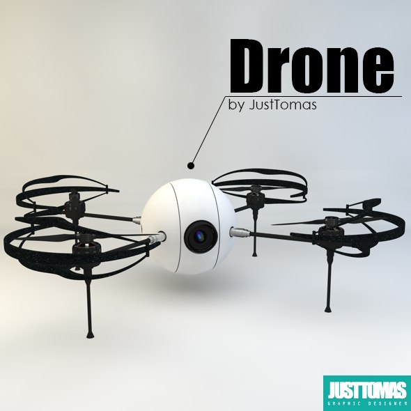 3d drone justtomas model